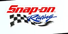 NEW Vintage Snap-on Tools Racing White Sticker Decal Man Cave Garage New Logo