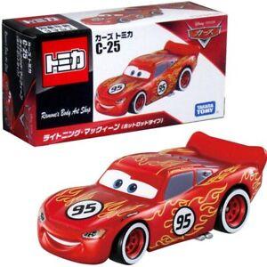 Tomica Takara Tomy Disney PIXAR CARS C-25 Lightning McQueen Hot Rod Diecast Car