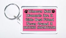 Whoever Said Diamonds Girls Best Friend Never Owned a British Shorthair Keyring