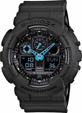 CRAZY WEEKEND DEAL G-SHOCK GA100C-8A NEON BLUE HAND ANA-DIGI MULTIFUNCTION WATCH