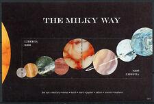 Liberia 2018 MNH Milky Way Planets Mercury Mars Jupiter 2v S/S Space Stamps