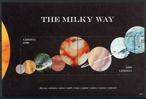 Liberia 2018 MNH Milky Way Planets Mercury Mars Jupiter 2v S/S Space Stamps
