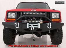SmittyBilt XRC Front Bumper W/Bull Bar & Built-In Winch Plate 84-01 Cherokee XJ