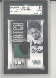 Livingstone Bramble trunks patch card 2011 Sportkings Ringside Boxing SGC 88