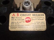 Federal Pacific NJ631350 Circuit Breaker #1Z-1070-7