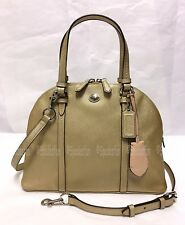 Coach 25671 Peyton Leather Cora Domed Satchel Bag 2-Way Purse GOLD Silver NWT
