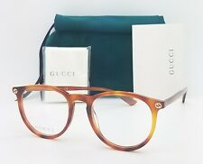 NEW Gucci RX Frame Glasses Light Havana GG0027O 003 50mm AUTHENTIC Round 0027O