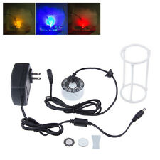 New 12LED Fountain Mist Maker Light Fogger Mister Pond Aquarium& Free AU Adaptor