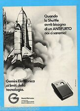 QUATTROR985-PUBBLICITA'/ADVERTISING-1985- GEMINI ELETTRONICA