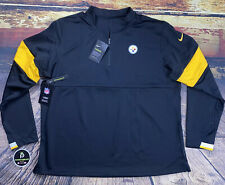 Nike Pittsburgh Steelers On Field 1/4 Zip Pullover Shirt Therma Dri Fit Mens XL