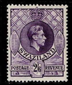 SWAZILAND GVI SG36a, 2s 6d violet, LH MINT. Cat £32. PERF 13½ x 14