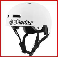 SHADOW CONSPIRACY CLASSIC HELMET ADULT XS X SMALL BMX BIKE BICYCLE GLOSS WHITE