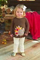Mud Pie Thanksgiving Turkey Tunic & Leggings Set 6 9 12 4T 5T NWT