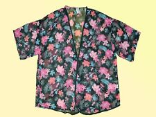 Kimono Plaid Blouse Tunique Ouvert GRANDES TAILLES 2 XL MULTICOLORE