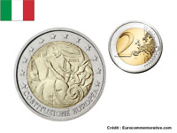 2 Euros Commémorative Italie 2005 Constitution UNC