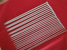 "Set of Vintage Aero Knitting Needles. 14"" (35cm) Sizes from 1 (7.5mm) - 11 (3mm)"