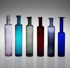 6 X Botellas de niñera aún firmado Arte Vidrio Riihimaen Lasi Oy Finland de mediados de siglo