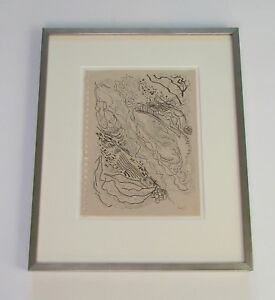 Signed Sam Scott Santa Fe Abstract Expressionist Pen & Ink Drawing