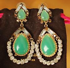 HUGE Kate Spade NY AMALFI MOSAIC TEARDROP Gems TEAL BLUE Chandelier Earrings