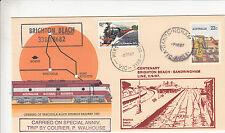 Stamp Australia Tarcoola PSE 1987 Brighton Beach Sandringham cachet overprint