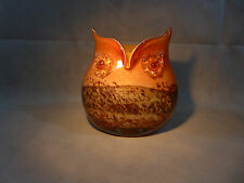 Murano Cristalleria D'Arte Art Glass Owl Vase Colors Golds & Browns