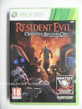 jeu RESIDENT EVIL OPERATION RACCOON CITY sur xbox 360 en francais game spiel TBE