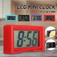 Mini LCD Automotive Digital Car Clock Self-Adhesive Stick On Time Portable Small