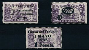[39042] Spain 1938 Good set Very Fine MH stamps
