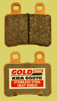 Yamaha XT125R sintered brake pads front or rear + shields 2005-2012 FA350HH type