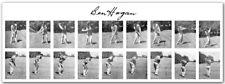 "BEN HOGAN IRON SWINGS 2 9-IMAGE ACTION SEQUENCES 1940's; 13"" x 19"" Photo Print"