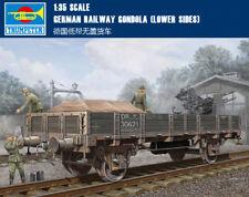 GERMAN RAILWAY GONDOLA (LOWER SIDES) 1/35 Truck Trumpeter model kit 01518