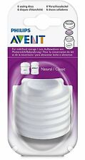 6 Pack Philips AVENT BPA Free Bottle Sealing Discs for Freezing Breast Milk New