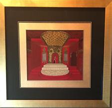 """Erte Original FULL Gouache - Decoration De La Salle - 10.75""""w x 9.25""""h"""