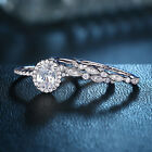 3pcs Wedding Rings For Women Engagement Set 925 Sterling Silver White Aaaa Cz