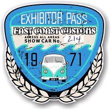 Retro Effetto Invecchiato Custom CAR SHOW ESPOSITORE PASS 1971 VINTAGE vinyl sticker decal