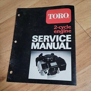 Vintage Toro 2 Cycle Engine Service Manual mower