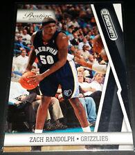 Zach Randolph 2010-11 Prestige BONUS SHOTS BLACK PARALLEL Card (#'d 02/10)