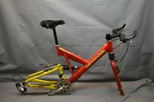 "1997 Cannondale Super V 1000 FS MTB Bike Frame Set 18"" Large Deore USA Charity!"