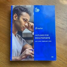 BARBRI Bar Exam Outlines for Multistate CLEAN No Writing Study Guide 2018-2019