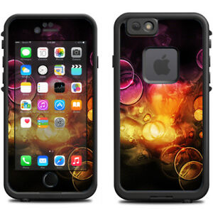 Skin Decal for Lifeproof iPhone 6 Fre Case / Orange Bubbles