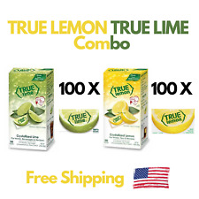 True Lemon True Lime Crystallized Lemon & Lime 100 Packs 2.82oz