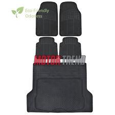 Odor-Free Eco Tech HD Floor Mats Motor Trend for Car SUV w/ Cargo Liner Black