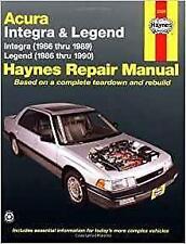 Haynes ACURA HONDA INTEGRA (86-89) LS RS Owners Service Repair Manual Handbook