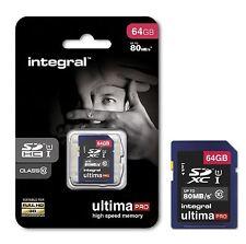 Integral De 64 Gb ultimapro alta velocidad: 80mb/s Sdxc Clase 10 Uhs-i U1 Para Full Hd.