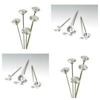Diamante Pins Acrylic Diamond shaped Head Sizes 4 to 6 cm choose your amount