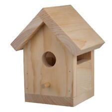 Bird House Wood Kit Brown Garden Patio Decor Pre-cut Yard Trees Pets Home Diy