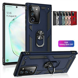 Hybrid Armor Shockproof Case Ring Stand Cover For Samsung Note 20 Ultra S20 A21S