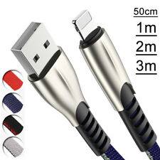 Strong Heavy Duty USB Data Fast Charge Charger Lead Cable For Apple iPhone iPad