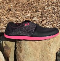 Under Armour Womens Size 11 4D Foam Encounter II Sandals Black/Pink
