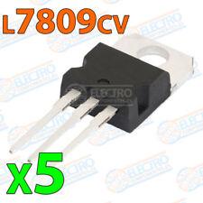 5x Regulador tension L7809CV L7809 7809 9V 1,5A - VOLTAGE REGULATOR TO-220